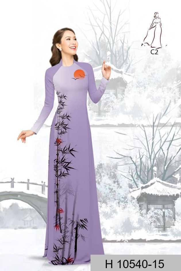 Vải áo dài tre trúc AD H10540 53