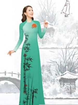 Vải áo dài tre trúc AD H10540 35