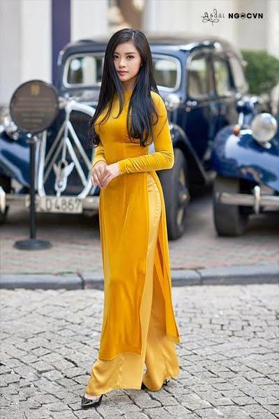 Vải áo dài nhung màu Vàng AD NHUNGVANG 2
