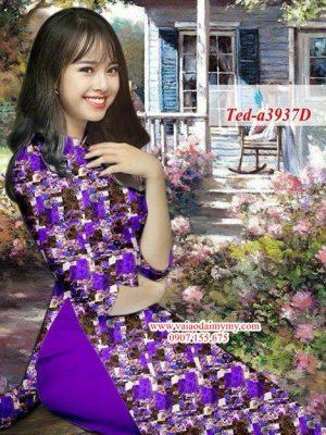 Vải áo dài hoa đều AD TED a3937 10