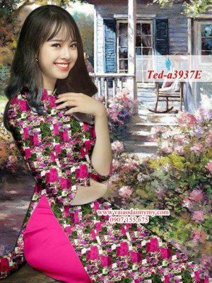 Vải áo dài hoa đều AD TED a3937 7