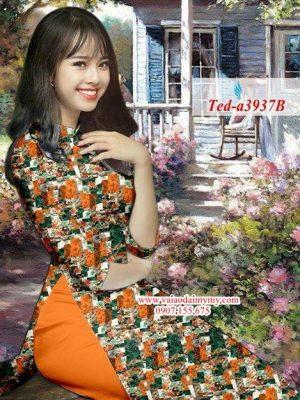 Vải áo dài hoa đều AD TED a3937 9