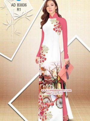 Vải áo dài hoa Phượng trong kỷ niệm AD B3836 15
