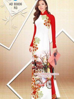 Vải áo dài hoa Phượng trong kỷ niệm AD B3836 13