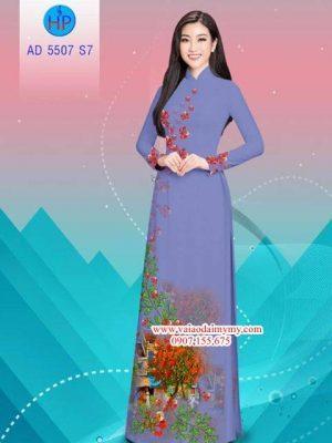 Vải áo dài hoa Phượng AD 5507 18