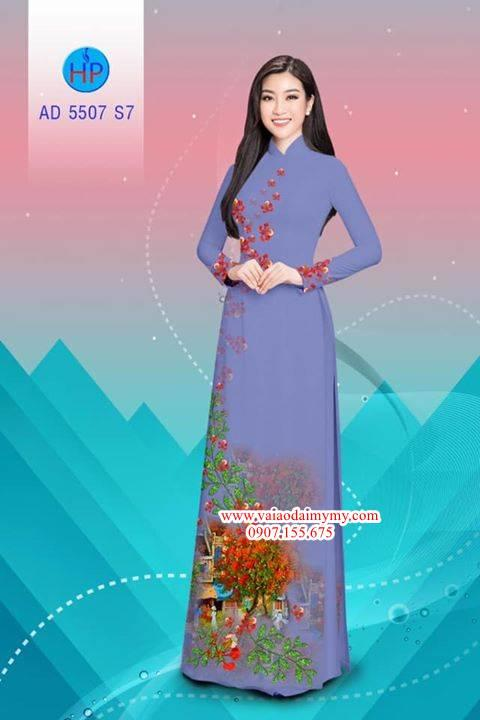 Vải áo dài hoa Phượng AD 5507 6