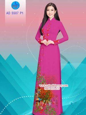 Vải áo dài hoa Phượng AD 5507 16