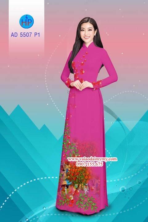 Vải áo dài hoa Phượng AD 5507 4