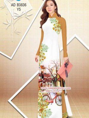 Vải áo dài hoa Phượng trong kỷ niệm AD B3836 14