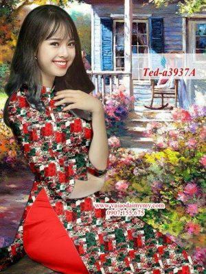 Vải áo dài hoa đều AD TED a3937 8