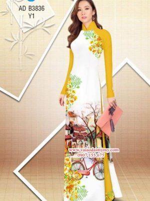 Vải áo dài hoa Phượng trong kỷ niệm AD B3836 18