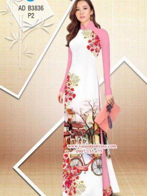 Vải áo dài hoa Phượng trong kỷ niệm AD B3836 20