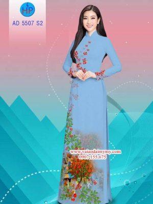 Vải áo dài hoa Phượng AD 5507 15