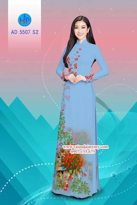Vải áo dài hoa Phượng AD 5507 3