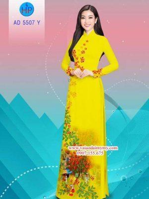Vải áo dài hoa Phượng AD 5507 19