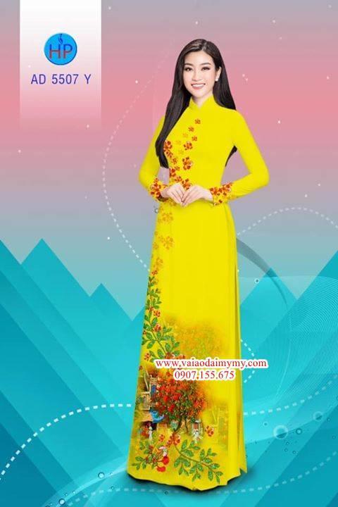 Vải áo dài hoa Phượng AD 5507 7