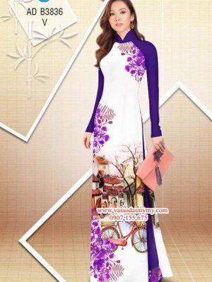 Vải áo dài hoa Phượng trong kỷ niệm AD B3836 16