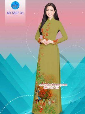 Vải áo dài hoa Phượng AD 5507 17