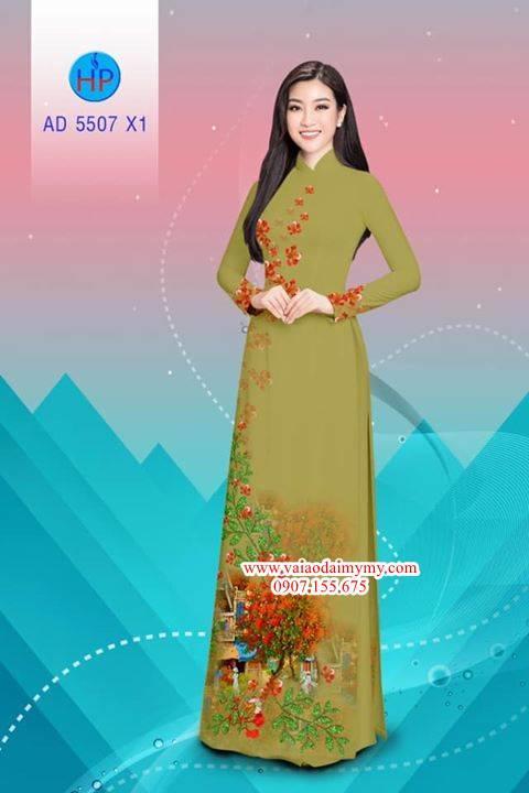 Vải áo dài hoa Phượng AD 5507 5