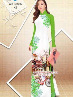 Vải áo dài hoa Phượng trong kỷ niệm AD B3836 19