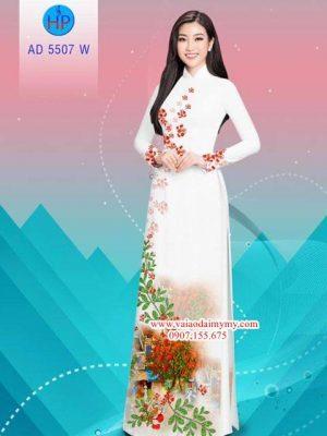Vải áo dài hoa Phượng AD 5507 20