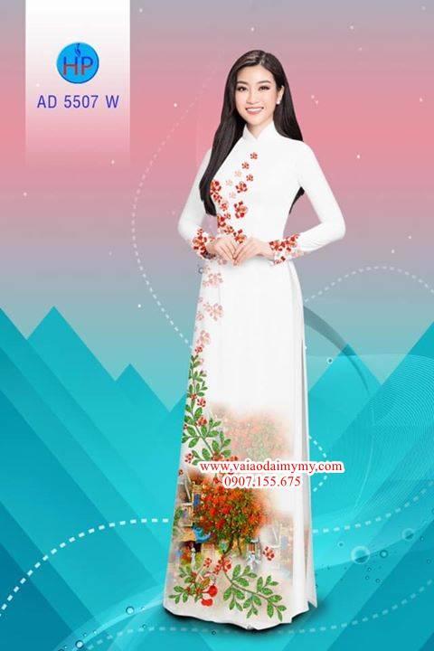 Vải áo dài hoa Phượng AD 5507 8