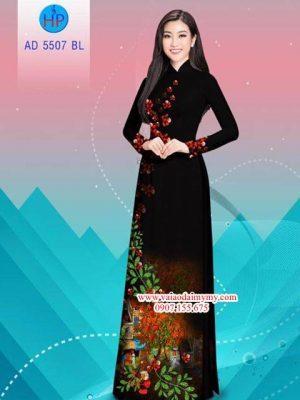 Vải áo dài hoa Phượng AD 5507 23