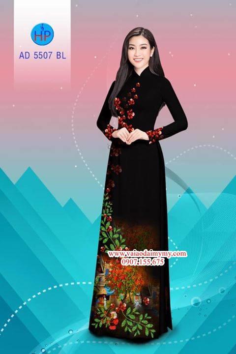 Vải áo dài hoa Phượng AD 5507 11