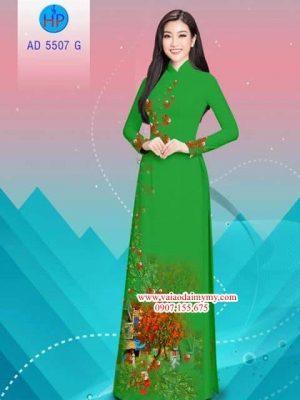 Vải áo dài hoa Phượng AD 5507 13