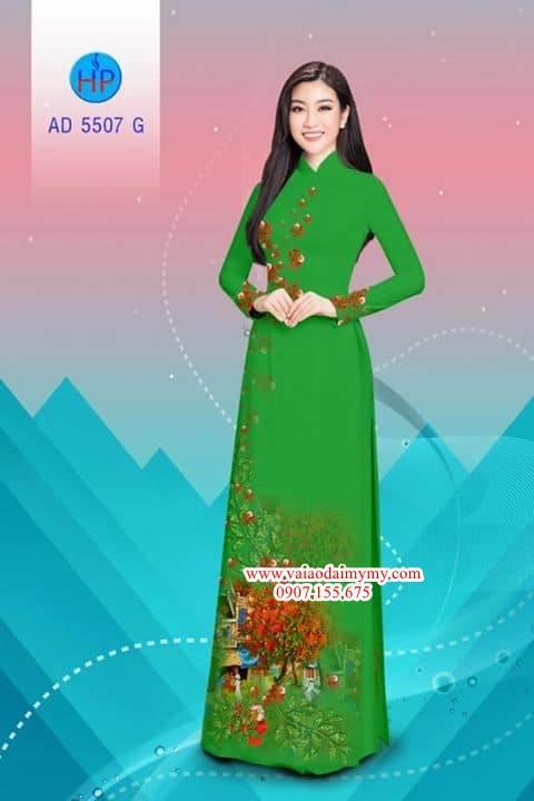 Vải áo dài hoa Phượng AD 5507 1