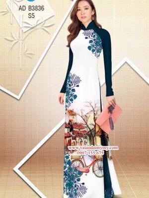 Vải áo dài hoa Phượng trong kỷ niệm AD B3836 21