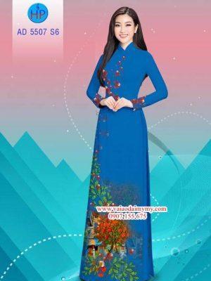 Vải áo dài hoa Phượng AD 5507 21