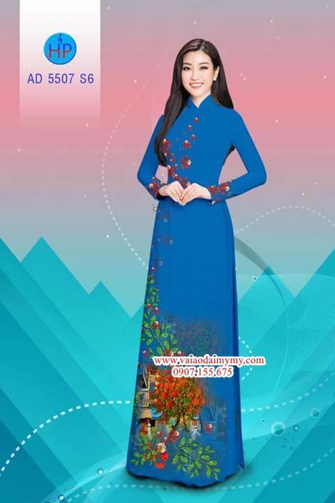 Vải áo dài hoa Phượng AD 5507 9