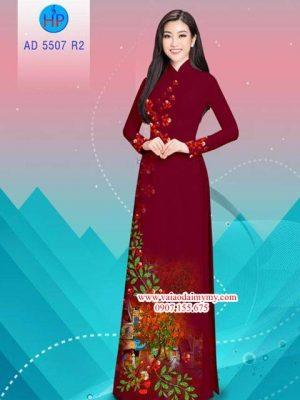 Vải áo dài hoa Phượng AD 5507 22