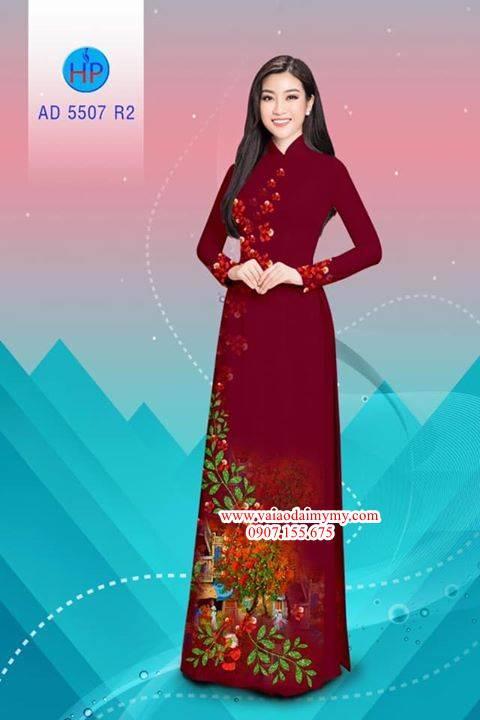 Vải áo dài hoa Phượng AD 5507 10