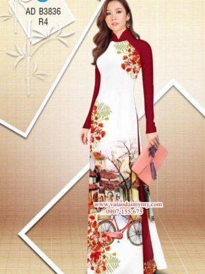 Vải áo dài hoa Phượng trong kỷ niệm AD B3836 22