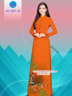 Vải áo dài hoa Phượng AD 5507 24