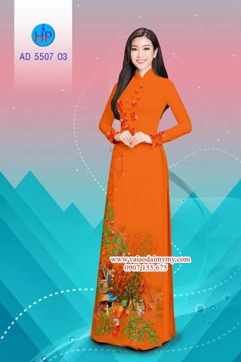 Vải áo dài hoa Phượng AD 5507 12