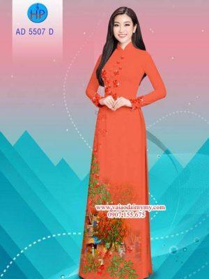 Vải áo dài hoa Phượng AD 5507 14