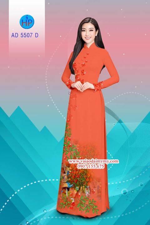 Vải áo dài hoa Phượng AD 5507 2
