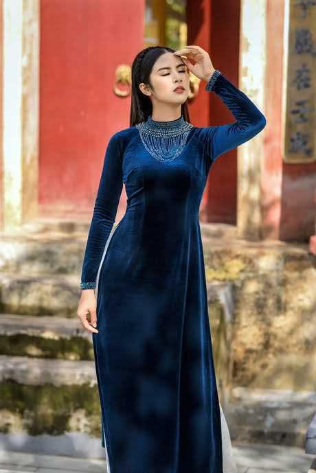 Những Mẫu Vải Áo Dài Nhung Đẹp Nhất Hiện Nay 12