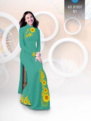 Vải áo dài hoa hướng dương AD B1837 15