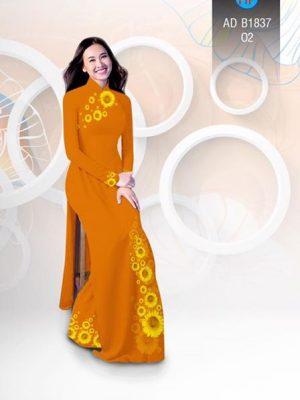 Vải áo dài hoa hướng dương AD B1837 16