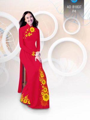 Vải áo dài hoa hướng dương AD B1837 18
