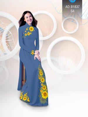 Vải áo dài hoa hướng dương AD B1837 17