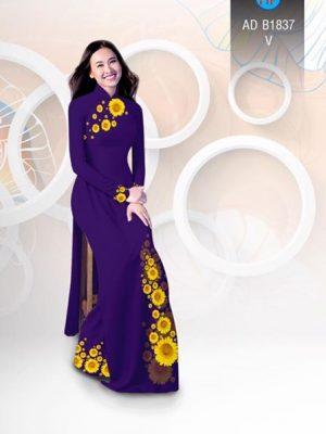 Vải áo dài hoa hướng dương AD B1837 19