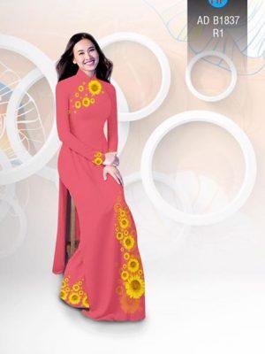 Vải áo dài hoa hướng dương AD B1837 20