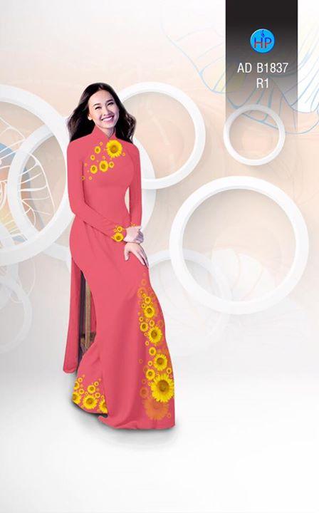 Vải áo dài hoa hướng dương AD B1837 8