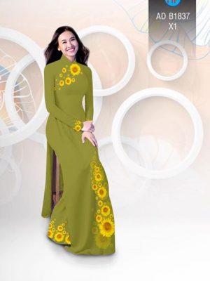 Vải áo dài hoa hướng dương AD B1837 21
