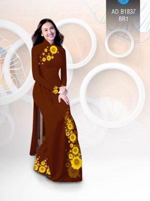 Vải áo dài hoa hướng dương AD B1837 25